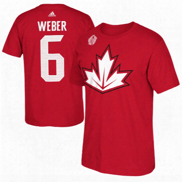 Canada Shea Weber 2016 World Cup Of Hockey Player Name & Number T-shirt