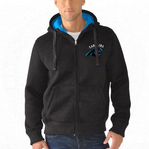 Carolina Panthers Nfl Sherpa Full Zip Hooded Jacket
