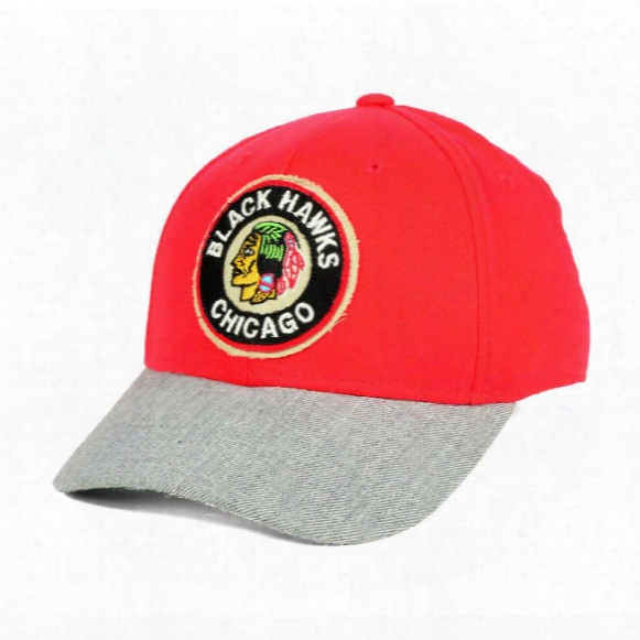 Chicago Blackhawks Ccm Hockey Structured Stretch Fit Cap