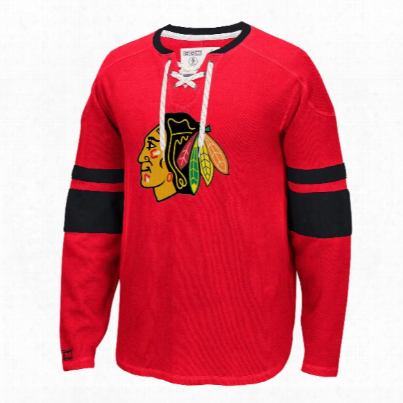 Chicago Blackhawks Ccm Retro Long Sleeve Jersey Crew