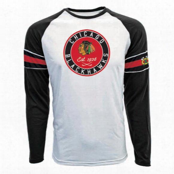 Chicago Blackhawks Face-off Fx Raglan Long Sleeve T-shirt