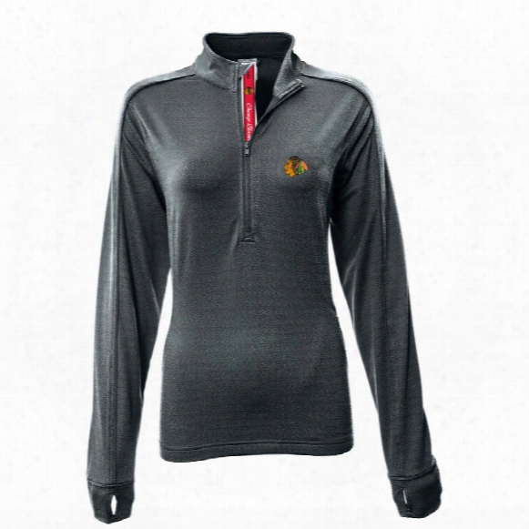 Chicago Blackhawks Women's Pacer Team Script 1/4 Zip Pullover
