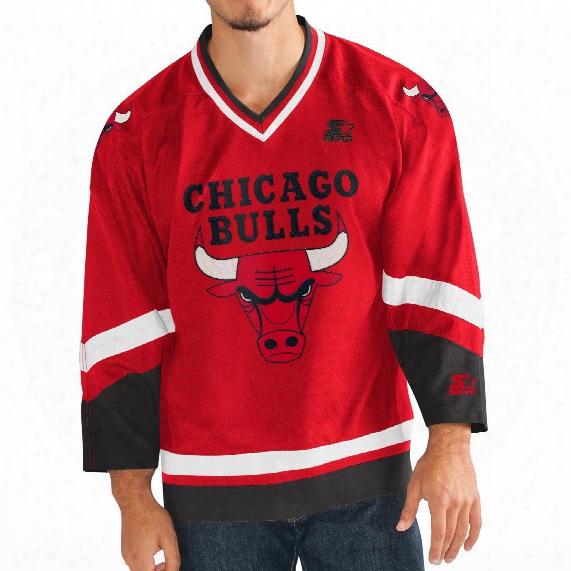 """Chicago Buulls Starter Nba """"crossover"""" Hockey Jersey"""