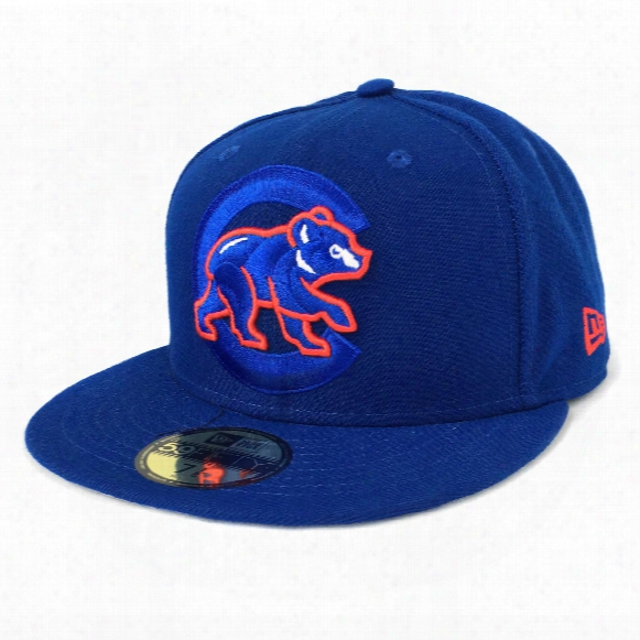 Chicago Cubs Logo Popped 59fifty Mlb Baseball Cap