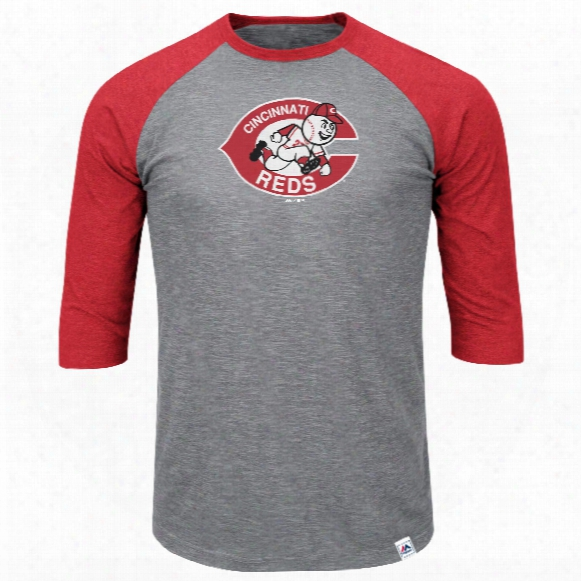 Cincinnati Reds Cooperstown Two To One Margin 3/4 Raglan T-shirt