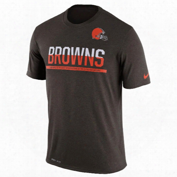 Cleveland Browns Nfl Nike Team Practice Light Speed Dri-fit T-shirt