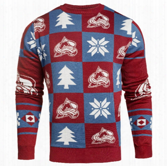 Colorado Avalanche Nhl Patches Ugly Crewneck Sweater