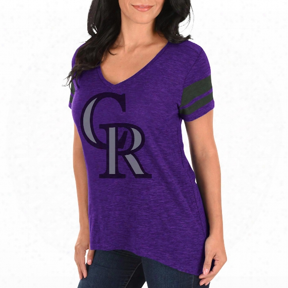 Colorado Rockies Women's Check The Tape V-neck T-shirt