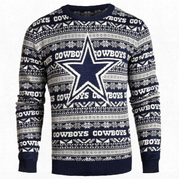 Dallas Cowboys Nfl Big Logo Ugly Crewneck Sweater