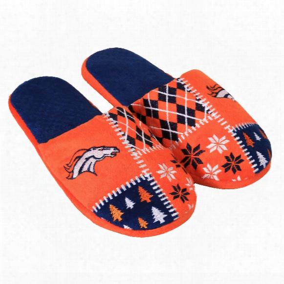 Denver Broncos Men's Ugly Sweatef Knit Slippers