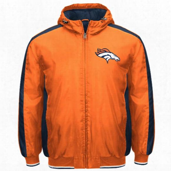 Denver Broncos Poly Filled Parka Full Zip Jacket