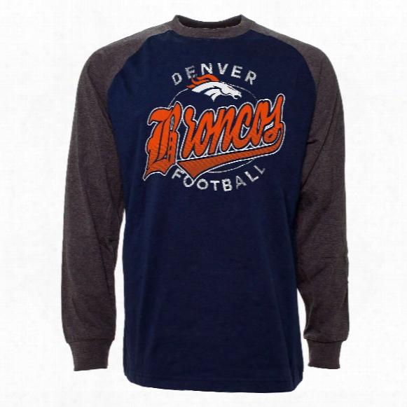 Denver Broncos Rounder Raglan Long Sleeve Jersey T-shirt