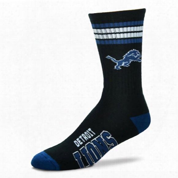 Detroit Lions 4 Stripe Deuce Crew Socks
