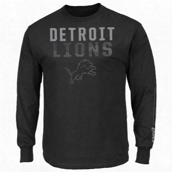 Detroit Lions Written Permission Long Sleeve Nfl T-shirt (black)