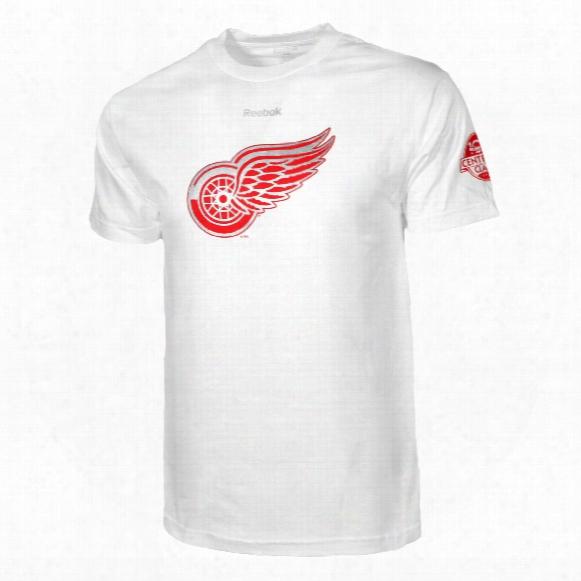 Detroit Red Wings 2017 Centennial Classic Logo T-sh Irt
