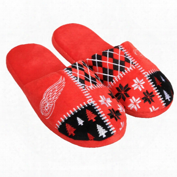 Detroit Red Wings Men's Ugly Sweater Knit Slippers