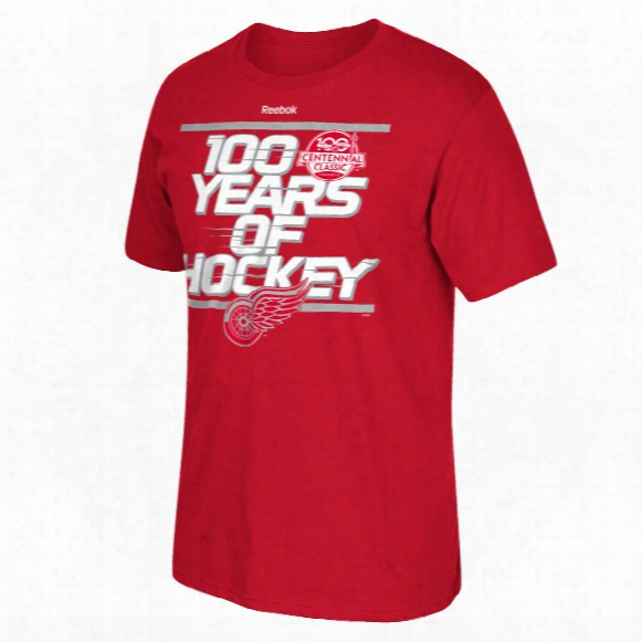 Detroit Red Wings Reebok 2017 Centennial Classic Localized T-shirt