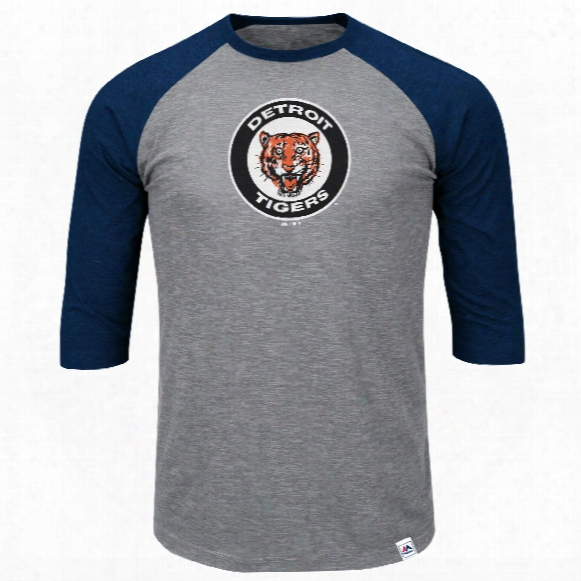 Detroit Tigers Cooperstown Two To One Margin 3/4 Raglan T-shirt