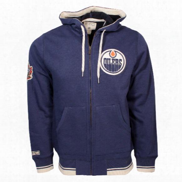Edmonton Oilers 2016 Heritage Classic Retro Full Zip Hoodie