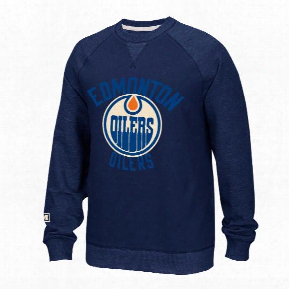 Edmonton Oilers Ccm Retro Fleece Crew