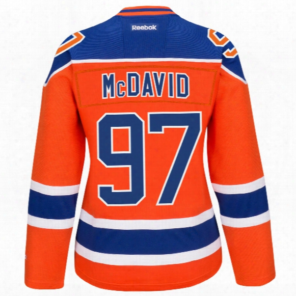 Edmonton Oilers Connor Mcdavid Women's Premier Replica Alternate Jersey (printed