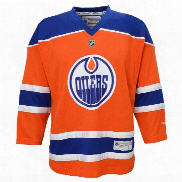 Edmonton Oilers Reebok Youth Replica Alternate Nhl Hockey Jersey