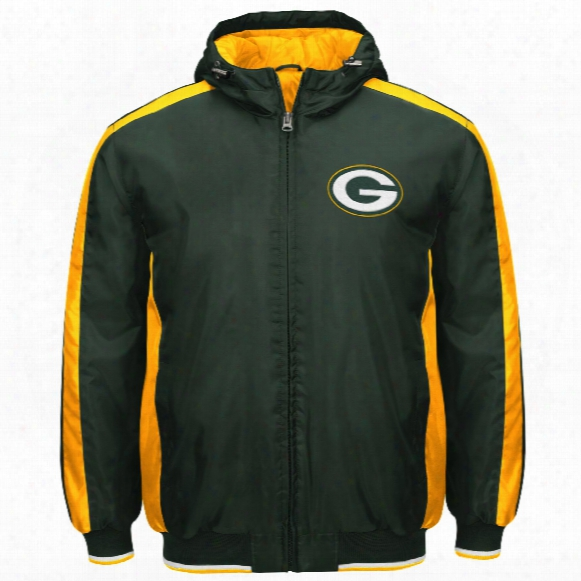 Green Bay Packers Poly Filled Parka Full Zip Jacket