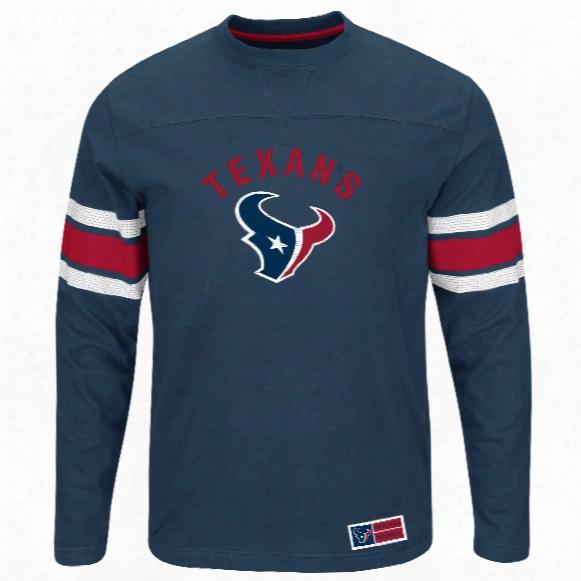 Houston Texans 2016 Power Hit Long Sleeve Nfl T-shirt With Felt Applique