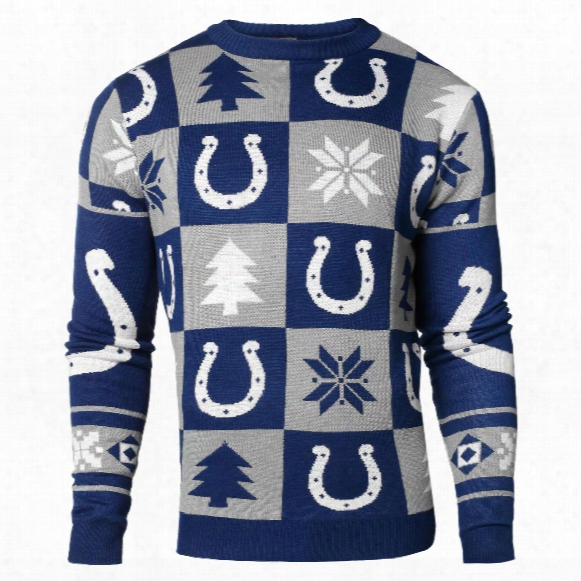 Indianapolis Colts Nfl Patches Ugly Crewneck Sweater