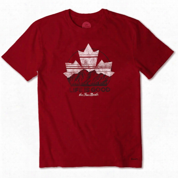 Life Is Good Men's Canada Day Mountain Crusher Tee