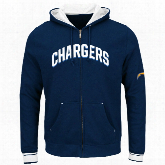 Los Angeles Chargers Anchor Point Full Zip Nfl Hoodie