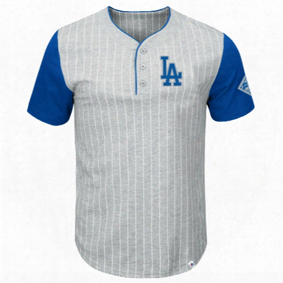 Los Angeles Dodgers Pinstripe Henley T-shirt