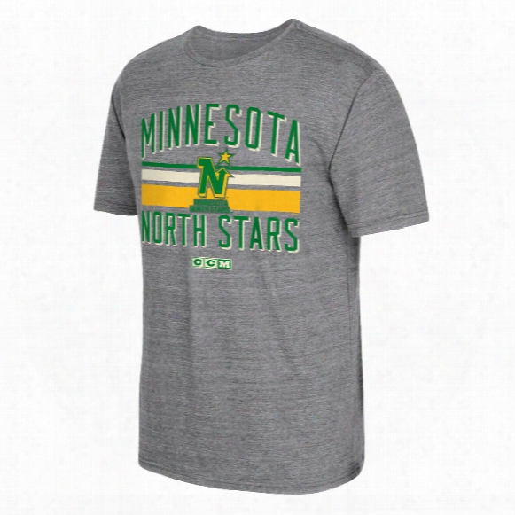 Minnesota North Stars Ccm Retro Classic Stripe Tri-blend T-shirt