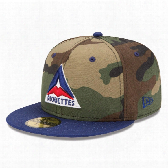 Montreal Alouettes Sj Green Cfl 59fifty Retro Player Camo Fitted Cap
