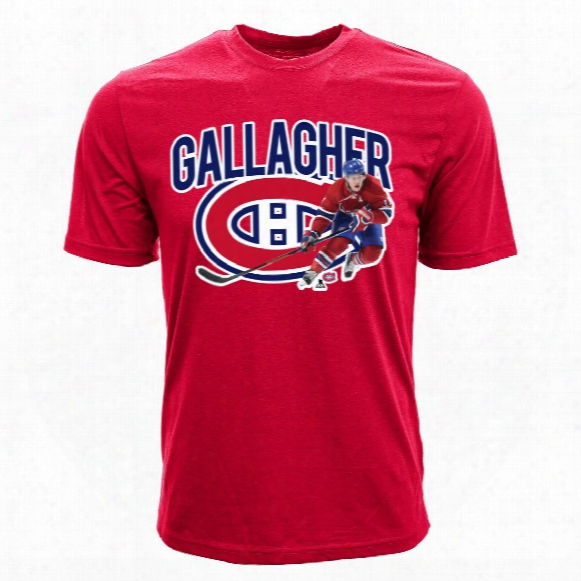 Montreal Canadiens Brendan Gallagher Nhl Action Pop Applique T-shitr