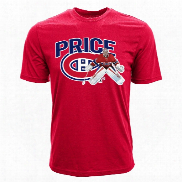 Montreal Canadiens Carey Price Nhl Action Pop Applique T-shirt