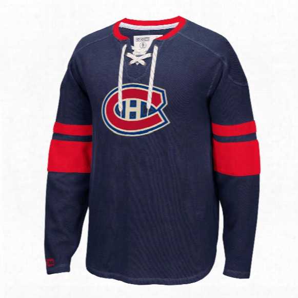 Montreal Canadiens Ccm Retro Long Sleeve Jersey Crew