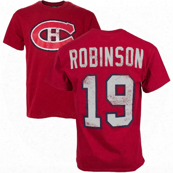 Montreal Canadiens Larry Robinson Vintage Nhl Alumni T-shirt (red)