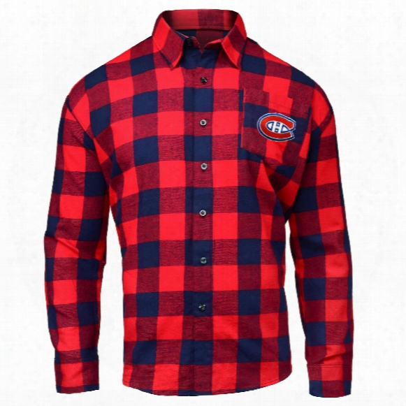 Montreal Canadiens Nhl Large Check Flannel Shirt