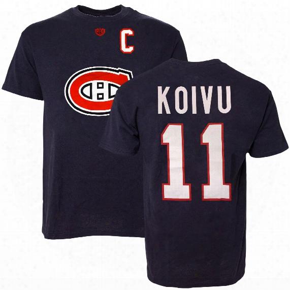 Montreal Canadiens Saku Koivu Vintage Nhl Alumni T-shirt (navy)
