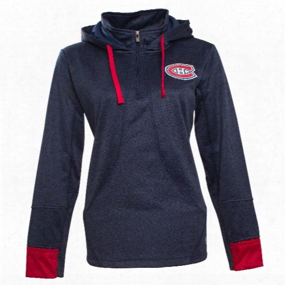 Montreal Canadiens Women's Annabelle 1/4 Zip Pullover Hoodie