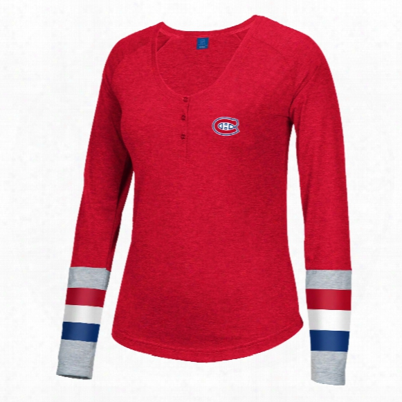 Montreal Canadiens Women's Jersey Striped Henley