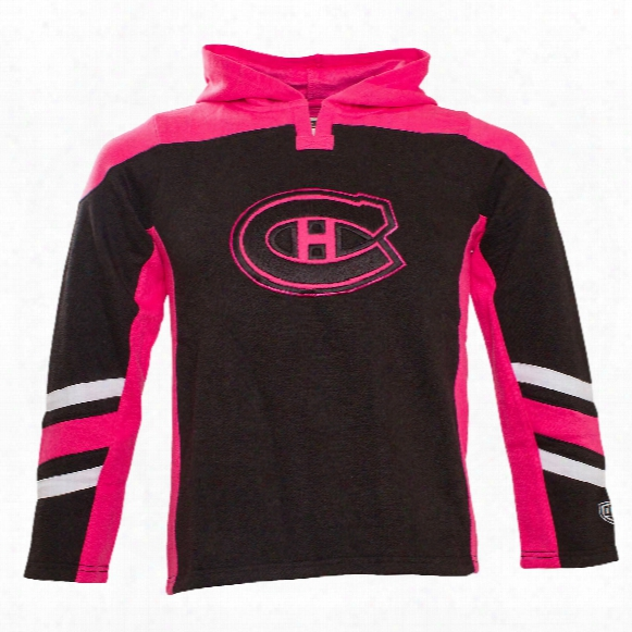 Montreal Canadiens Youth Blush Long Sleeve Hooded Top