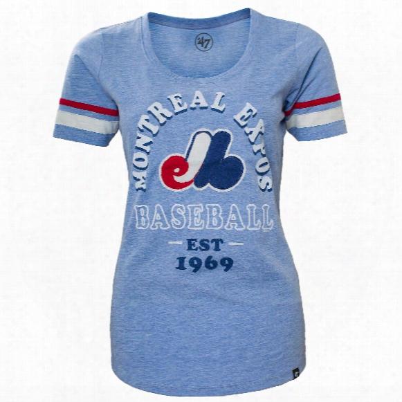 Montreal Expos Women's Fantasy Scoop T-shirt