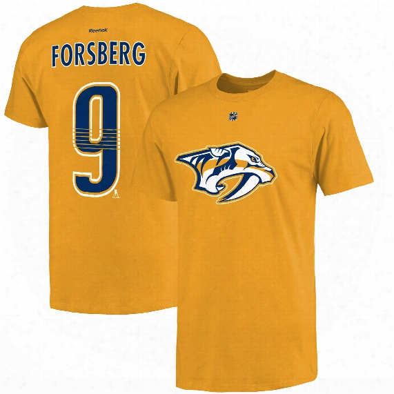 Nashville Predators Filip Forsberg Reebok Nhl Player Name & Number T-shirt
