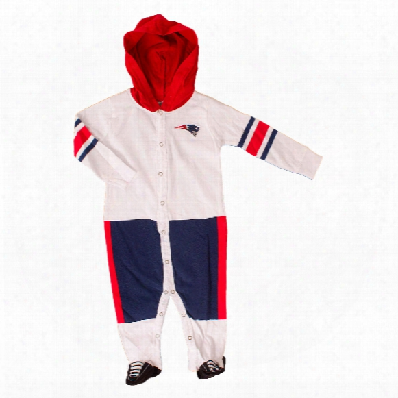 New England Patriots Baby Runner Long Sleeve Coverall/onesie