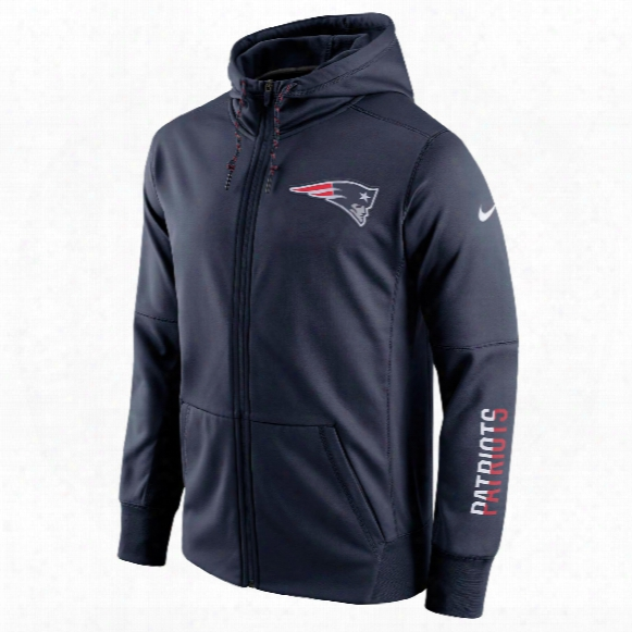 New England Patriots Nfl Sideline Circuit Full Zip Performance Hoodie