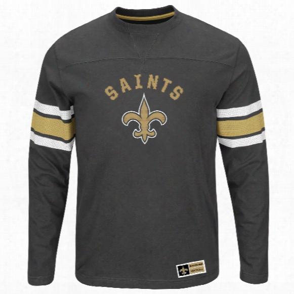 New Orleans Saints 2016 Power Hit Long Slewve Nfl T-shirt With Felt Applique