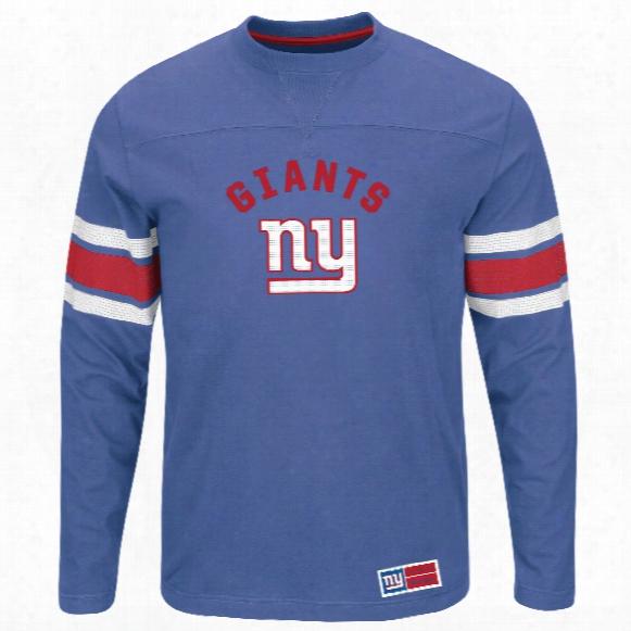 New York Giants 2016 Power Hit Long Sleeve Nfl T-shirt With Felt Applique
