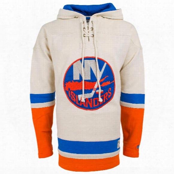 New York Islanders Vintage Heavyweight Jersey Lacer Hoodie